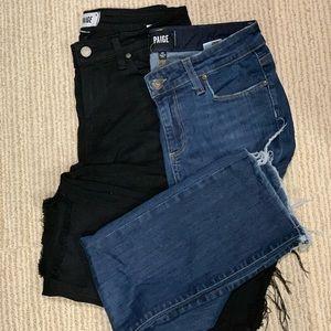 2 Paige jeans size 28